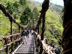 徳島高知ドライブ旅行12-二重かずら橋,野猿,天空の村・かかしの里,重文小采家