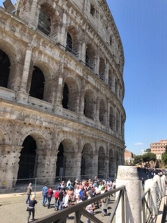フィレンツェからテルミニ駅へ <br /><br />ここから、二日間で見尽くした(つもりの)ローマです<br /><br />地下鉄でのトラブルにも負けず<br /><br />快晴の中、歩いて歩いて・・・<br /><br />バチカンとコロッセオは予約も取れなかったので<br /><br />朝一と夕方を狙ったのが功を奏してラッキーな結果に。<br /><br /><br /><br />