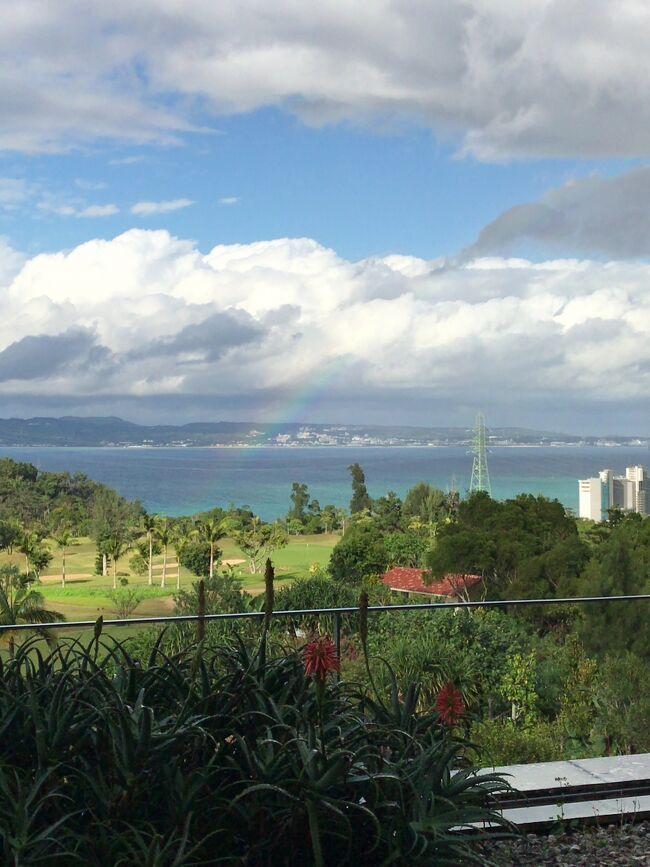 2019年6月、梅雨の沖縄旅行。<br /><br />主な目的は「リッツカールトン沖縄」に泊まる事。<br />公式サイト http://www.ritzcarltonjapan.com/okinawa/<br /><br />リッツカールトン沖縄はサービスが素晴らしく感動したので、3度目の宿泊。<br />宿泊中は驚きの連続でした。<br />朝食ビュッフェ・昼食「グスク」・アフタヌーンティー・鉄板焼「喜瀬」・イタリアン「ちゅらぬうじ」<br />以前宿泊したときの様子も交えて、今回の1泊を紹介します。