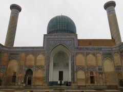 2019春、ウズベキスタン等の旅(3/52):4月24日(1):サマルカンド(2):グリ・アミール廟(1):入口門、中庭