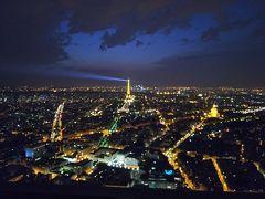 2018夏 フランス・ドイツ周遊 4日目 エッフェル塔 昼の顔・夜の顔 モンパルナスタワーからの眺め