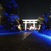 富士山本宮浅間大社のライトアップ 2019.05.26