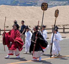 和歌山ドライブ旅行5-玉津嶋神社,塩竈神社,不老橋,ちょうど和歌祭の渡御行列に遭遇