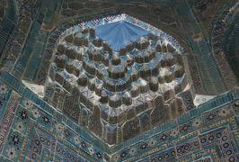 2019春、ウズベキスタン等の旅(7/52):4月24日(5):サマルカンド(6):シャーヒ・ズィンダ廟群、天国の階段からの眺望