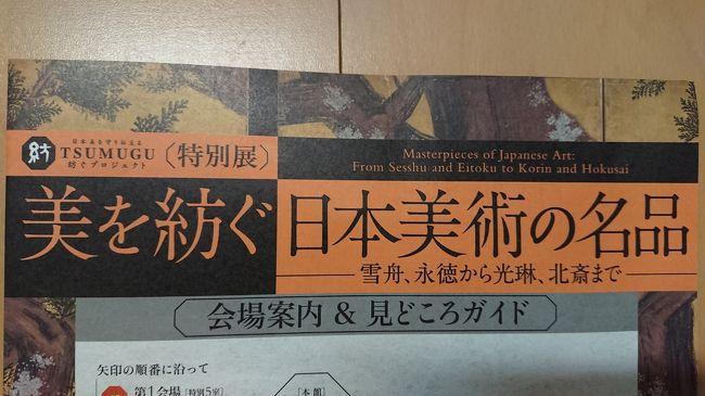 東京国立博物館に日本美術を見に行った
