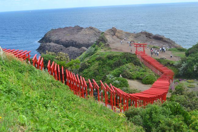 2日目は山口県の元之隅神社、角島大橋を巡り、萩市内を散策し、津和野に行きます。