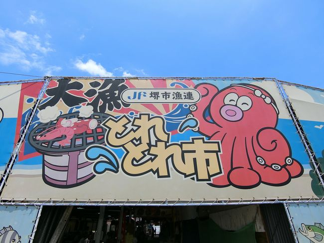海鮮バーベキューが楽しめる堺市の「とれとれ市」へ。<br />また近くの一等三角点が設置されている標高6.97mの日本一低い山の「蘇鉄山」へ。