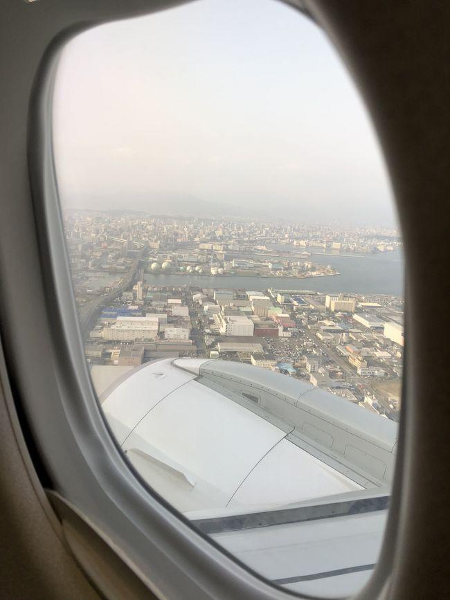 平成最後の旅行を計画しながら、何処に行こうか行先を検討した結果、昨年、世界文化遺産に登録された「長崎・天草地方の潜伏キリシタン関連遺産」のうち、街並みに風情が残る「天草の崎津集落」に行くことにしました。<br /><br />早々、大阪伊丹空港から福岡の博多空港に向かい、その後は、福岡在住の親戚宅に前泊し、その次の日の3月30日、車で高速道路を移動しながら、天草に入り、崎津集落などなどの観光をしながら宿からサンセットが望める1泊2日の小さな旅を満喫することができました。<br /><br />旅行記表紙の写真は、伊丹空港を離陸し博多空港付近を飛行する機内から望む光景です。