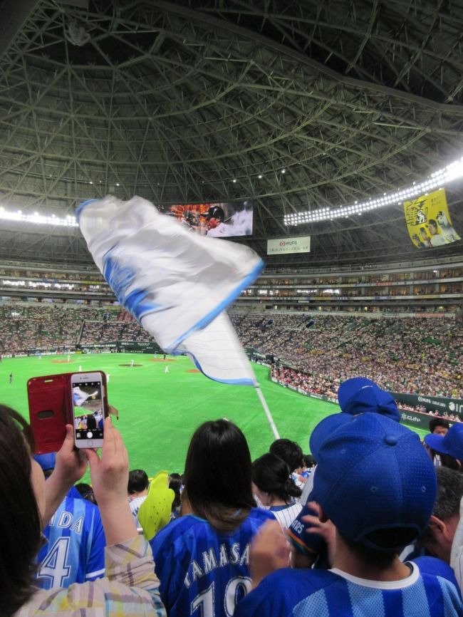 横浜に住む主人は根っからのベースターズファンです。<br />私は全く野球に詳しくないのですが、セパ交流戦を見に福岡に行くと言うので<br />一緒についていくことにしました。福岡は初めてなので楽しみです。<br /><br />三日目はセパ交流戦3回戦を見に行きました。<br />