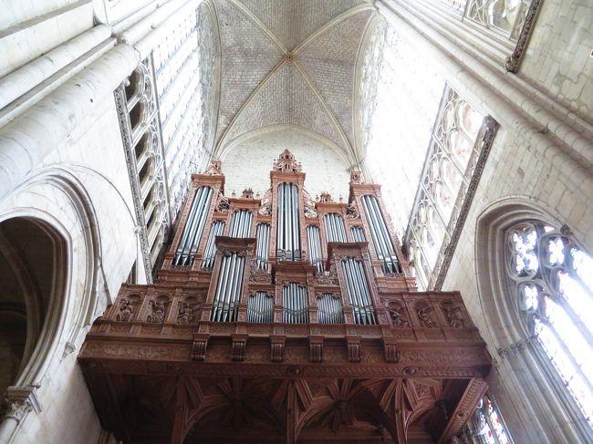 サン・ジュリアン大聖堂♪最古のステンドグラス♪フランス最大のパイプオルガン2019年5月フランス ロワール地域他 8泊10日(個人旅行)49