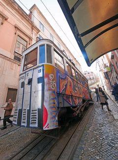 2019.2ポルトガル一人旅17‐Alfa PendularでLisbonに戻る,グロリア線のケーブルカー