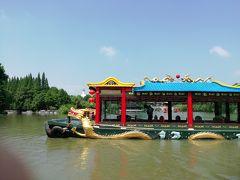 痩西湖風景区♪たぶん1艘チャーターしたはずの超豪華遊覧船も水上バスも行ってしまった2019年6月 中国 揚州・鎮江 7泊8日(個人旅行)21