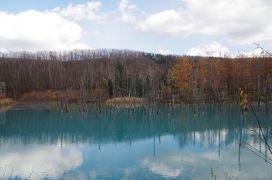 2018年11月 初冬の旭川へ(2日目-3)~青い池へ