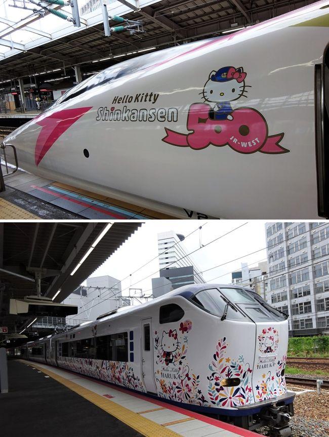 5月にJRで大阪から京都(逆も含め)まで5回、去年廃止になった昼得切符の時間帯に乗りました。半分近くポイントで戻ると言うので、どれだけポイントが入るか楽しみでした。ところが、入っていたのは560円×4の半分の半分強、660円ほどでした。千円ほど入るかなと思っていたのに、ちょっと拍子抜けです。まあ、無いよりマシですけどね。これからは、たぶん阪急で出かけると思います。京都駅周辺だけは仕方ないですが~<br />3年前に大分の友人宅へ向かったときにエバンゲリオン新幹線を見て「カッコいいー!」と思ったのに、見学しようと決めた時はすでに遅し、消え去って1週間も経っていなかったのです。ちゃんと駅のポスターを見ていない証拠です…<br />なので、次のハローキティ新幹線はしっかり見て、新幹線大好きな孫を見学に連れて行こう。予行演習をしなくてはと、同じように孫を連れて行くことを考えている京子さんと出かけます。そして、関空特急にもキティちゃんがあるから、ついでにどっちも見て、孫を連れて行くにはどう動けばいいか、シミュレーションをします。<br />グリコのオマケとして、環状線にもキティちゃんがいるから探してみてダメならフォトスポットに行こうと、欲張りな私は3つのキティちゃんが見えますように…と祈るのです。<br />そして、ミッション②、孫を連れて行っても大丈夫なのか?ちょっと時間が気になります~