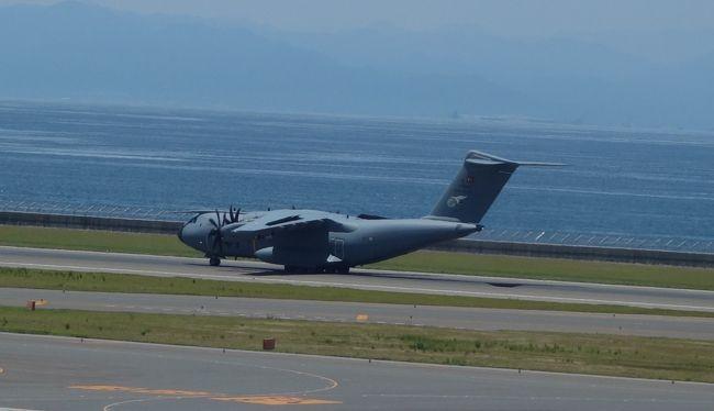 セントレアで初めて軍用機を見ました。外国の輸送機です。4発のプロペラ機。1機のみの来航です。どこから来たのでしょうか。