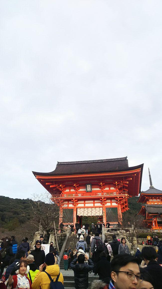 年越しを名古屋で、年始は京都へ!<br />急遽、京都の友人が時間があるとのことだったので、名古屋から京都までいって、欲張りな観光してきました。