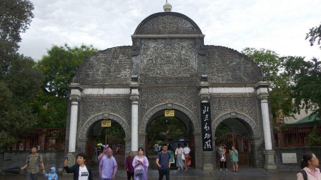 5月26日(日)です。<br />今日はちょっと足を延ばして頤和園へ。<br />その後は北京動物園でパンダを思う存分見て、天壇へ。<br />窓から見る外の模様は雨っぽい。<br />今日も頑張って歩きます。<br /><br />地鉄三元橋⑩・④号線→西苑<br />頤和園<br />地鉄北宮門④→動物園<br />北京動物園<br />地鉄動物園④・⑦・⑤→天壇東門<br />天壇<br />地鉄景泰⑭・⑩号線→三元橋