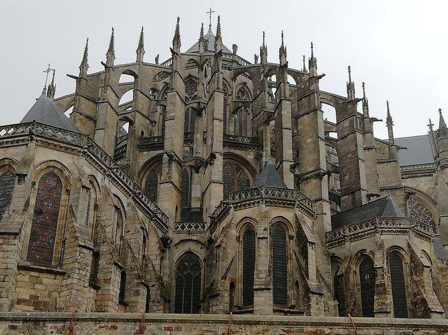ル・マン♪サン・ジュリアン大聖堂♪ゴシックの高さを支えるフライングバットレス2019年5月フランス ロワール地域他8泊10日(個人旅行)71