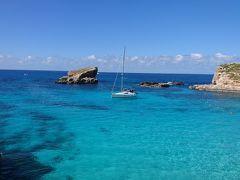 マルタでゆっくりのんびりバケーション 7日目 コミノ島ブルーラグーン 10,160歩