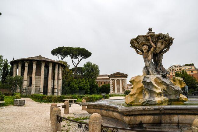 ローマ再訪~古代ローマ遺跡三昧の旅 <br /><br />2007年にローマを初めて訪れたときに古代ローマの魅力にはまり、それ以来いつかお膝元のローマの遺跡巡りをしたいと思っていました。<br />そして2018年のゴールデン・ウィーク、うまいこと休みが取れたので、急に思い立って念願のローマの遺跡巡りに出かけることにしました。<br />訪れた遺跡は全部で70個。古代ローマ遺跡まみれの4泊5日の旅です。<br />(調べるうちに知らない遺跡を気付かずに見ていたことがわかり数が増えました。)<br /><br />∴∵ ∴∵ ∴∵ ∴∵ ∴∵ ∴∵ ∴∵ ∴∵ ∴∵ ∴∵ <br />【4】ローマ市内遺跡めぐり~1日で43個の遺跡を一筆書きで歩いて巡る【前編】 (2018/5/1)<br />ローマ市内の古代ローマ遺跡を一筆書きで辿ります。<br />見たいものが多すぎて絞ることができず、とにかく全てを見尽くしてやることにしました。地図とにらめっこしてできる限り多くの遺跡を見るルートをあれこれ考えた結果、チルコ・マッシモを起点に南から北にジグザグに巡っていくことにしました。一日で訪れた遺跡の数は43個。有名無名織り交ぜてひたすら遺跡を辿る一日です。<br />前半は古くからローマ市内だったセルウィウス城壁内の遺跡21個を紹介します。<br /><br />※古代ローマ遺跡に興味のある方はぜひ下記のサイトもご覧ください!<br />インスラ http://roman-ruins.com/insula<br />∴∵ ∴∵ ∴∵ ∴∵ ∴∵ ∴∵ ∴∵ ∴∵ ∴∵ ∴∵ <br /><br /> 【1】ローマ到着~予想外の古代ローマ遺跡に遭遇 (2019/4/29)<br /> 【2】ハドリアヌスの別荘~静かにひっそり過ごす別荘だと思ったら・・・ (2018/4/30)<br /> 【3】まだ明るいのでテルミニ駅近くの遺跡めぐり (2018/4/30)<br />&gt;【4】ローマ市内遺跡めぐり~1日で43個の遺跡を一筆書きで歩いて巡る 【前編】(2018/5/1)<br /> 【5】ローマ市内遺跡めぐり~1日で43個の遺跡を一筆書きで歩いて巡る 【後編】(2018/5/1)<br /> 【6】アッピア街道~起点から4km、埃っぽいアッピア街道を歩く (2019/5/2)<br /> 【7】帰国 (2019/5/3-4)<br /><br />参考資料<br />・「とんぼの本 ローマ古代散歩」小森谷 慶子、小森谷 賢二<br />・「世界のオベリスク」 http://www.obelisks.org/