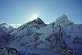 エベレスト街道274㌔巡礼の道を歩き登った記録 15.カラパタール~(5550m)~ロブチェ(4910m)神々の座エベレスト