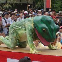 法隆寺から吉野山まで初夏の旅(二日目完)〜吉野山の蛙飛び行事は天罰が下った大青蛙が蔵王堂でぴょこたんぴょこたん。授戒で無事、人間に戻ります〜