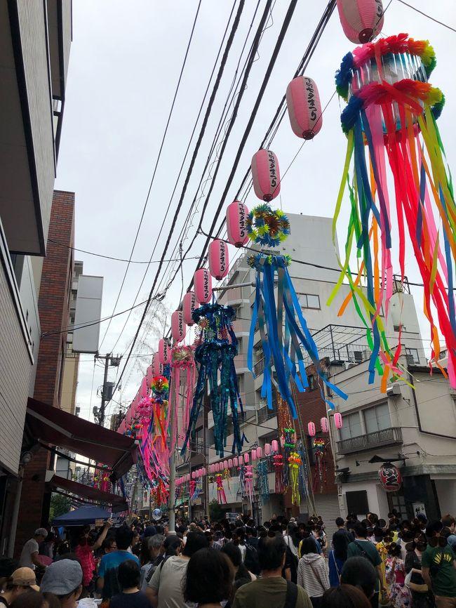 高級イタリアンのランチを終えて、このまま帰るのも何だなぁと思ったので上野で途中下車。先週のアド街でやっていた合羽橋へ行くことに。七夕祭りで大賑わいでした!
