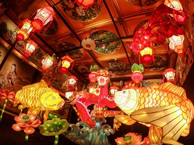 雅叙園東京の百段階段で開催されている、「和のあかり展」に行ってきました。百段階段とは、ホテル雅叙園東京の前身である目黒雅叙園の3号館にあたり、以前はここで色々な宴が催されていたようです。が、今ではおもにここでいろいろな企画展が開催されています。私はここで開催されるいろいろな催し物の中でも和のあかり展が一番好きです。この企画は写真撮影OKなので、多くのカメラを持った人が訪れます。(三脚、フラッシュは不可)今年のサブテーマは~こころの色彩~。浴衣で見学しているお嬢さんが多いなぁと思ったら、お食事とセットになって着付けもついている「浴衣プラン」がありました。室内で空調が整っているので、雨の日や、猛暑の時のお出かけ先にとても良いところだと思います。