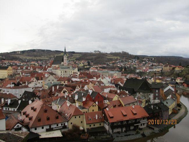 ツアーでチェコを訪れ、チェスキークルムロフへ日帰りで行きました。世界で最も美しい街といわれる世界遺産の街です。