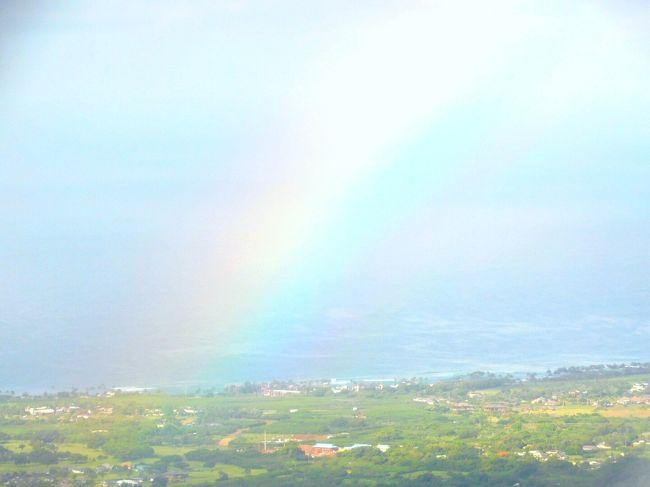 カウアイ島 虹が見えた♪ヘリコプターで壮大なナパリコースト遊覧飛行