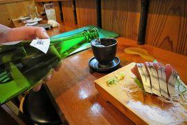[北海道&東日本パス:6日目-後編] 水郡線で行く田んぼの中にある公共宿、最後の夜に乾杯!美味い肴には地酒が合うんです♪