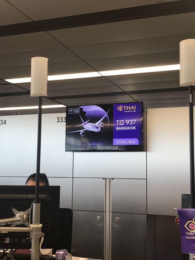 ウィーンを観光した後、タイ航空ビジネスクラスでバンコク経由で関空まで戻りました