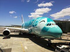 ANA A380 フライングホヌ ファーストクラス(復路)・ANAスイートラウンジ(ホノルル)
