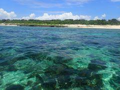 夏!! 沖縄 久高島周遊 ウパーマ浜で泳ぎました。