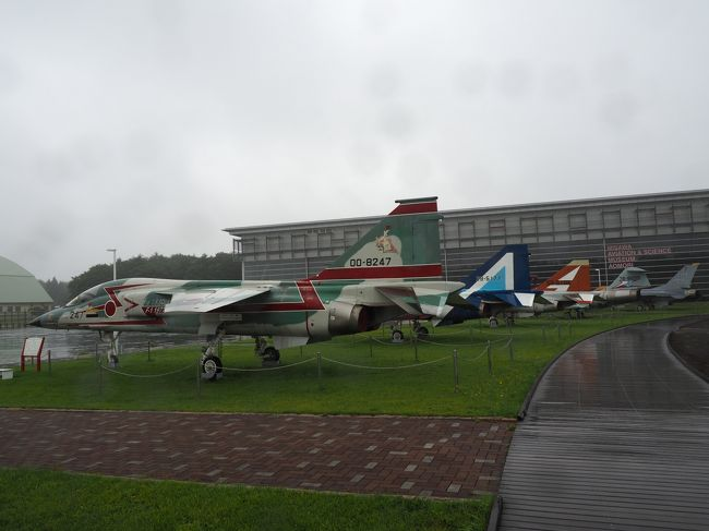 航空科学館の前は自衛隊機、米軍機の屋外展示コーナーが。雨の中ですが行ってみましょう。中に入れる機体もありました! 雨の中の見学で写真が見づらいですが、ご容赦ください。<br />飛行機を見終えたあとは、この近辺の名物である豚バラ焼きをいただきます。<br /><br />2019/10/26投稿