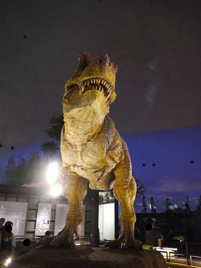 雨で予定変更。徳島でキャンプ→改め→福井の恐竜博物館と山中温泉1泊2日 1:恐竜博物館満喫編