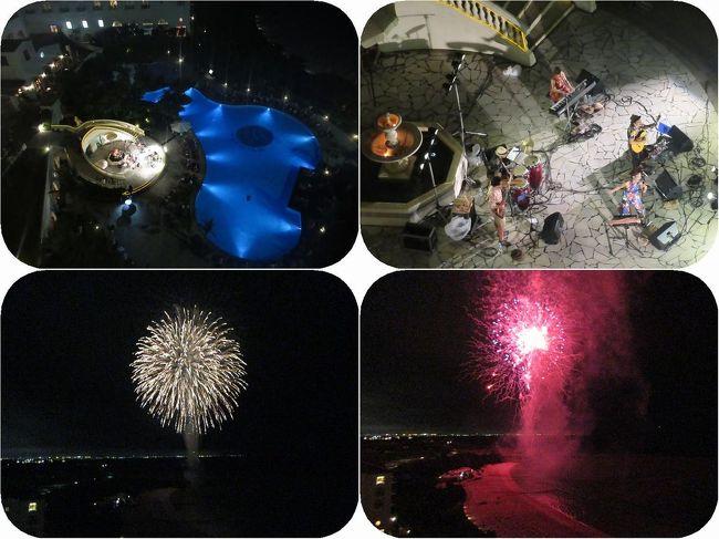 開業25周年を迎えたこの日。ホテル日航アリビラでは記念コンサートが行われました。<br />ガーデンプール前の特設ステージには多くの人が集まってにぎやわっていました。<br />お部屋のラナイから高見の見物をさせてもらいました。<br />コンサート終了と同時にニライビーチから打ちあがる花火にみとれます。<br />