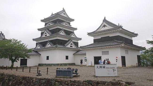 愛媛の実家から、大洲市内へ出てきました。今回の帰省の帰りに姫路城と彦根城を見る予定なので、大洲城にも行ってみることにしました。