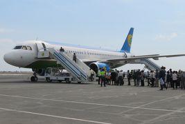 2019春、ウズベキスタン等の旅(49/52):4月29日(2):ウルゲンチ(8):ウルゲンチ空港、空路タシケントへ