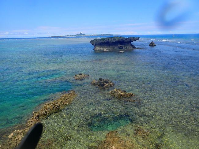 備瀬崎でシュノーケリングをしました。さすがに有名なポイントだけありました向かい側にあります小島(ミーウガン)との間の海峡状の所は結構深く多くの魚が泳いでいました。ミーウガンの先のほうまで行くと透明度も上がりサンゴも多くなります。<br />午後に崎本部緑地公園(ゴリラチョップ)へ行きました。<br />こちらも<br />有名なシュノーケリングポイントですが、波があり透明度もあまり高くありませんでした。ちょっと泳いで早々に引き上げました。<br /><br />備瀬崎でシュノーケリングしました。<br />https://youtu.be/NY7OqD0Sj-o<br /><br />崎本部緑地公園(ゴリラチョップ)へ行きました。<br />https://youtu.be/DJ0o8Ou_8UM<br />