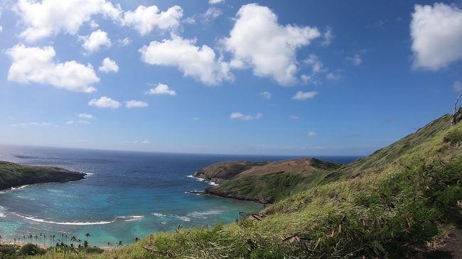 バーゲンで見つけた格安航空券につられ<br />ハワイ4泊6日を計画<br />今回はパワースポットとプレートランチのステーキ(お肉)に<br />こだわりスケジュールをたてました。<br />今回はハワイ大学の学食にある 水曜日限定のローストビーフ<br />フミズとテッズベーカリーのガーリックシュリンプ対決<br />最近話題になった ミニラニのレインボートンネルなど<br />色々回ってきました<br />是非よろしければ最後までご覧ください<br />