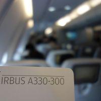 エアバスA330-300に乗りました。HEL-LHR AY-1337便です。