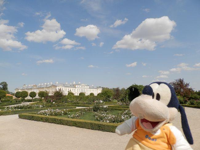 グーちゃんだよ。<br />ルンダーレ宮殿の庭園を徘徊したの。<br />そこは何処から見ても完璧な庭園だったの。<br />加えてこの季節、いろんなお花が咲いてて<br />宮殿を彩っているの!!<br />シェーンブルン宮殿に行った時は真冬だったから<br />ちょっと寂しかったけど・・・。