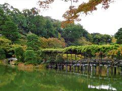 2018年10月 京都 仙洞御所見学 少し紅葉をしていました。