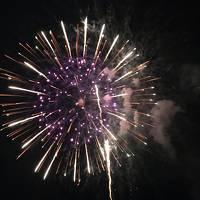「上諏訪温泉宿泊感謝イベント」の花火を見に諏訪湖へ