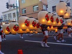 往復飛行機で行く東北二大祭り(05) 秋田竿灯祭り 上巻。