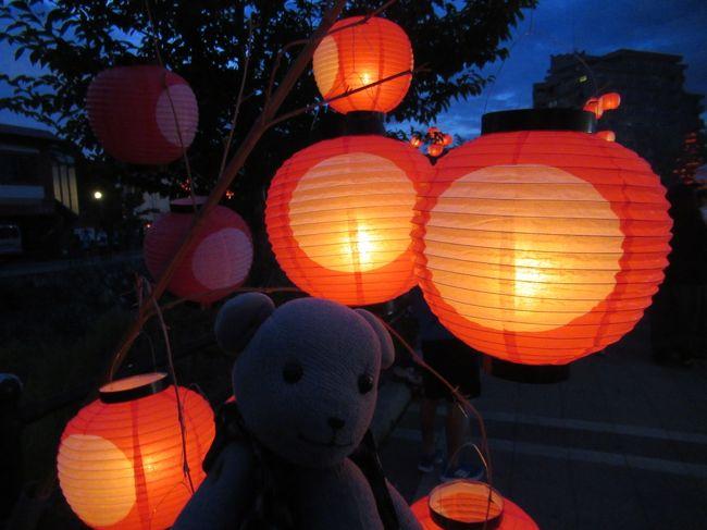 毎年8月6日、7日に開催される、ちょうちん祭り。<br />起源は西の京と呼ばれて栄えていた室町時代まで遡る歴史のあるお祭りです。<br />日本三大火祭りと名乗るには、どうかなあ、と個人的には思うところはありますが。<br /><br />今年は6日に台風8号がやってきて、初日は商店街のちょうちん飾り(強風で火は入れなかった模様)だけでほとんどのイベントが中止。<br />実質7日のみの開催となりました。<br />旦那が泊まりで飲み会だったのでこれ幸いに、例年より早く出かけます。<br />商店街の人たちのちょうちん飾りの苦労も垣間見つつも、今年もちょうちんはきれいだったのでした。<br />