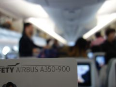Airbus A350-900 に乗りました。LHR-HEL Finnair AY1332便です。