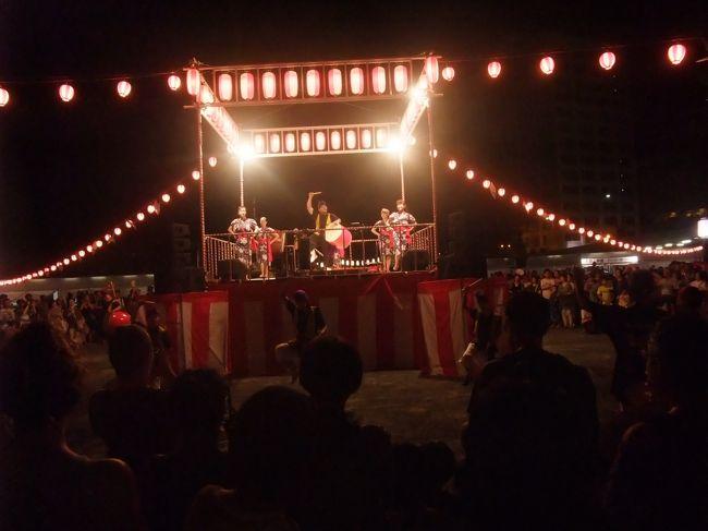 今年は2日間開催された盆踊りの2日目、8月11日の様子です<br /><br />https://hiroshima-bon-dance.jp/