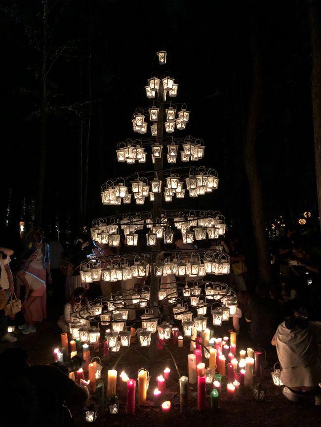 信州旅行の帰り道に軽井沢高原教会のサマーキャンドルナイトに立ち寄りました。<br /><br />たくさんのキャンドルが灯されていて幻想的でした。<br />